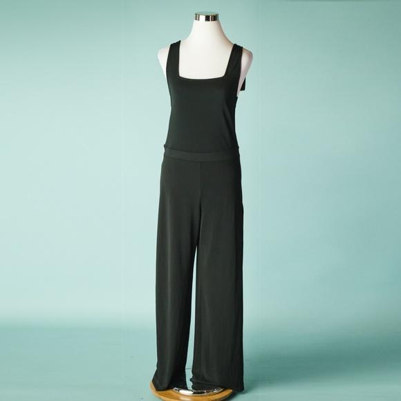 6c118b0aa1d Zara M Black Strappy Wide Leg Romper Jumpsuit NWT